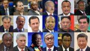 18 dictateurs au pouvoir