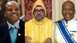 Les trois Monarchies encore existantes en Afrique