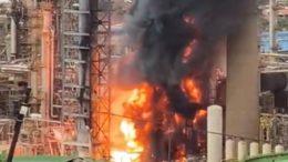 Raffinerie Afrique du Sud Explosion