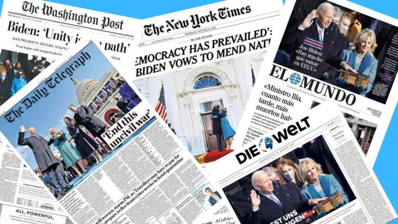 Biden Président - Les unes des journaux
