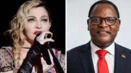Madonna rencontre le président du Malawi, Chakwera
