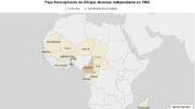 L'Afrique francophone - Indépendances - 1960